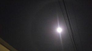 月暈の撮影